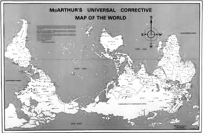 Idaho Observer Map projection linked to upsidedown worldview
